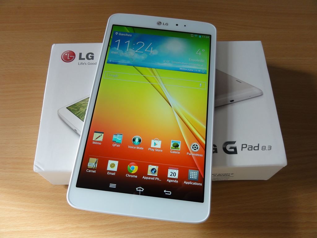 test de la lg g pad 8 3 la meilleure tablette lg. Black Bedroom Furniture Sets. Home Design Ideas