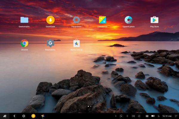 Remix OS 2.0 s'inspire clairement de Windows 10.