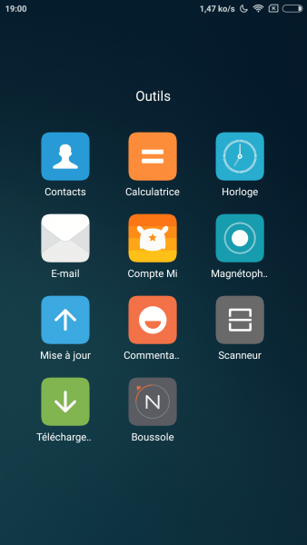 Xiaomi fourni des applications de son propre cru, plus ou moins utiles.