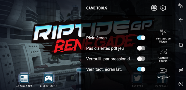 Outil Game Tools de Samsung