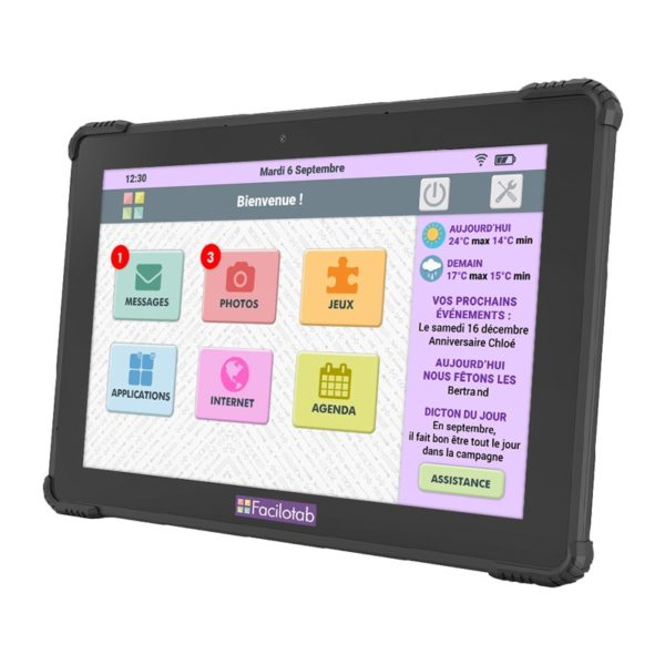 Tablette seniors Facilotab Onyx