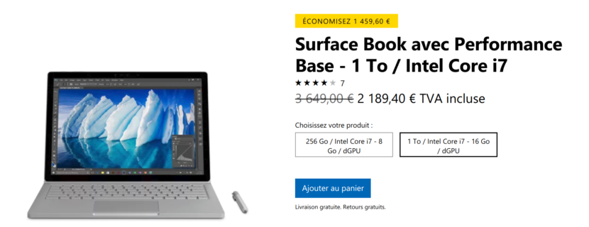 Bon plan Surface Book