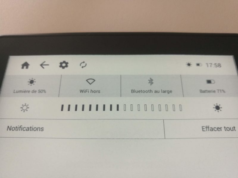 Bluetooth sur InkBOOK Prime